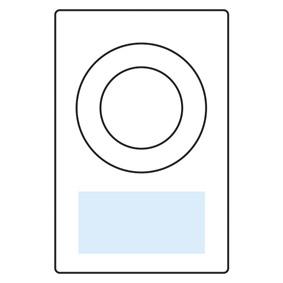 クリップデジタルクロック名入れ箇所