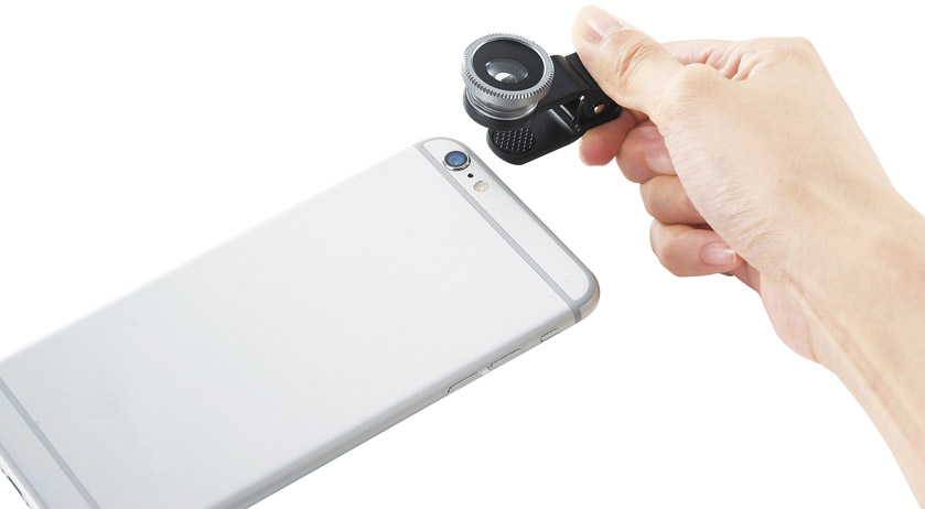 ノベルティ用スマホ撮影レンズ3点セット簡単クリップ